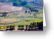 Evgeni Dinev Greeting Cards - Over the Green Valley Greeting Card by Evgeni Dinev