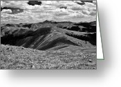 Brian Kerls Greeting Cards - Over the Hills Greeting Card by Brian Kerls