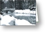 Bridge Greeting Cards Greeting Cards - Over the River Greeting Card by Andrea Hazel Ihlefeld