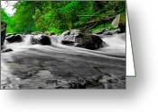 Commission Photo Greeting Cards - Over the Rocks Greeting Card by David Hahn
