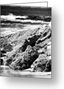 The Rocks Greeting Cards - Over the Rocks Greeting Card by John Rizzuto