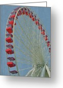 Amusement Ride Greeting Cards - Over The Top Greeting Card by Odd Jeppesen