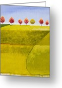 Sky Painting Greeting Cards - Over Yonder Greeting Card by Jerome Lawrence