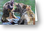 River Greeting Cards - Overbearing Greeting Card by Judy Kay