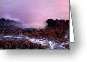 Dusk Greeting Cards - Overcome by the Tides Greeting Card by Mike  Dawson