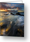 Tides Greeting Cards - Overflow Greeting Card by Mike  Dawson