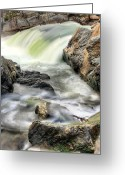 Great Falls Greeting Cards - Overflowing  Greeting Card by JC Findley