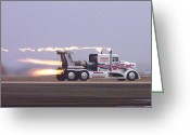 Truck Shows Greeting Cards - Overkill Greeting Card by Tim North