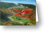Chama River Greeting Cards - Overlook Near Ghost Ranch Greeting Card by Mark Malone