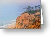 Surf Art La Jolla Digital Art Greeting Cards - Overlooking Blacks Beach La Jolla Greeting Card by Russ Harris