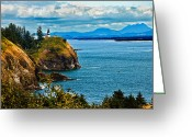 Fresnel Greeting Cards - Overlooking Greeting Card by Robert Bales