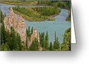 Alberta Landscape Greeting Cards - Overlooking the Bow Greeting Card by Robert Pilkington