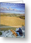 Grand Tetons Greeting Cards - Overlooking the Grand Tetons Jackson Hole Greeting Card by Dustin K Ryan