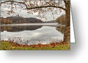 Shelton Greeting Cards - Overlooking the River Greeting Card by Karol  Livote