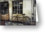 3d Graphic Greeting Cards - Ownerless Bicycle Greeting Card by Jutta Maria Pusl