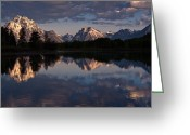Grand Tetons National Park Greeting Cards - Oxbow Bend  Greeting Card by Greg Nyquist