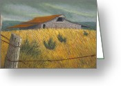 Old Barn Pastels Greeting Cards - Ozark Barn Madison County Greeting Card by Garry McMichael