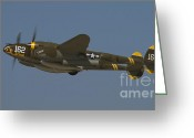 Eto Greeting Cards - P-38 cruising Greeting Card by Tim Mulina