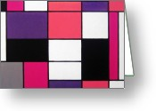 Rectangles Greeting Cards - P Cubed Greeting Card by Oliver Johnston