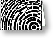 Learn To A Maze Greeting Cards - P Maze Greeting Card by Yonatan Frimer Maze Artist