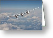 Usaf Greeting Cards - P38 - Polished Performance Greeting Card by Pat Speirs