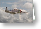Classic Mustang Greeting Cards - P51 - Doll Greeting Card by Pat Speirs