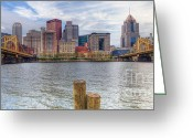 Roberto Greeting Cards - PA0001 Pittsburgh 1 Greeting Card by Steve Sturgill