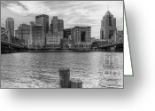 Roberto Greeting Cards - PA0002 Pittsburgh 2 Greeting Card by Steve Sturgill