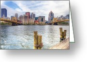 Roberto Greeting Cards - PA0003 Pittsburgh 3 Greeting Card by Steve Sturgill