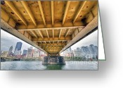 Pittsburgh Greeting Cards - PA0004 Pittsburgh 4 Greeting Card by Steve Sturgill