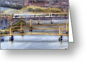 Roberto Greeting Cards - PA0008 Pittsburgh 8 Greeting Card by Steve Sturgill
