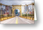 Roberto Greeting Cards - PA0010 Pittsburgh 10 Greeting Card by Steve Sturgill
