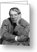 1930s Greeting Cards - Pablo Picasso (1881-1973) Greeting Card by Granger