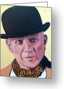 Tr Roderick Greeting Cards - Pablo Picasso Greeting Card by Tom Roderick