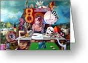 Fantastic Realism Greeting Cards - Pablos Last Concert Greeting Card by Otto Rapp