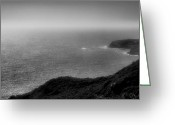 Misty Prints Prints Greeting Cards - Pacific Coast Shoreline VI Greeting Card by Steven Ainsworth