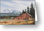 Print Landscape Greeting Cards - Pacific Northwest Landscape Greeting Card by James Williamson