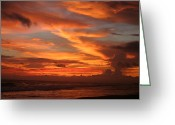 Playa Greeting Cards - Pacific Sunset Costa Rica Greeting Card by Michelle Wiarda