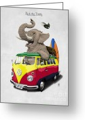 Mammal Greeting Cards - Pack the Trunk Greeting Card by Rob Snow