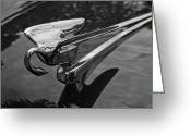 Antique Automobile Greeting Cards - Packard Hood ornament Greeting Card by Dennis Hedberg