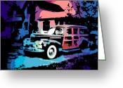 Woody Wagon Greeting Cards - Packard Wagon Greeting Card by George Pedro