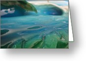 Ocean Sculpture Greeting Cards - Paddle Out Greeting Card by Ronnie Jackson