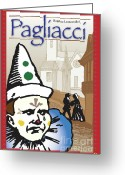 Finale Greeting Cards - Pagliacci Greeting Card by Joe Barsin