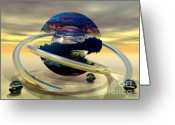 3d Digital Art Greeting Cards - Paint Balls Greeting Card by Sandra Bauser Digital Art