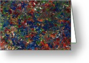 Abstract Bright Color Greeting Cards - Paint number 1 Greeting Card by James W Johnson