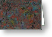 Abstract Greeting Cards - Paint number 17 Greeting Card by James W Johnson