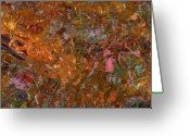Abstract Greeting Cards - Paint number 19 Greeting Card by James W Johnson