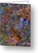  Expressionism Greeting Cards - Paint Number 26 Greeting Card by James W Johnson