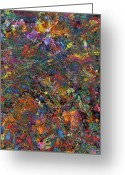 Abstract Painting Greeting Cards - Paint number 29 Greeting Card by James W Johnson