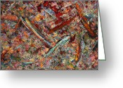 Abstract Greeting Cards - Paint number 30 Greeting Card by James W Johnson